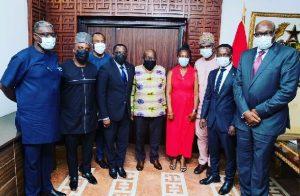 President Akufo-Addo hosts Ben Nunoo Mensah and new GOC Board
