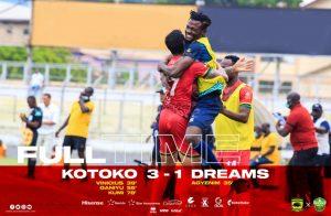 Asante Kotoko win over Dreams FC