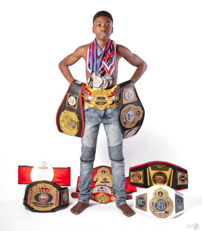 Meet the 13-year-old Ghanaian boxer who has won 13 titles