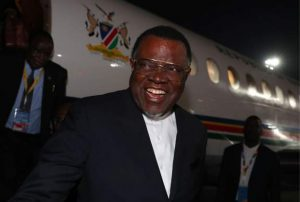 Namibia's president tests positive for Covid-19