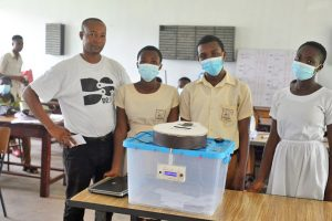 Obuasi Senior HS students created a Smart Ballot Box that stops multiple voting