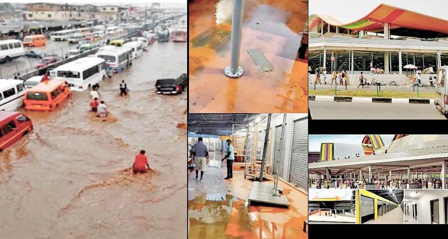 A/R: Kejetia market floods after a 2 hour downpour on Thursday evening