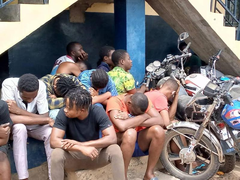 Accra: Police arrests 215 suspects – 17 of them women; impounds 168 motorbikes