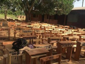 Free SHS: More than two students share a mono desk