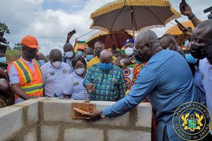A/R: President Akufo-Addo cuts sod for construction of 111 hospitals, work to be completed in 18 months