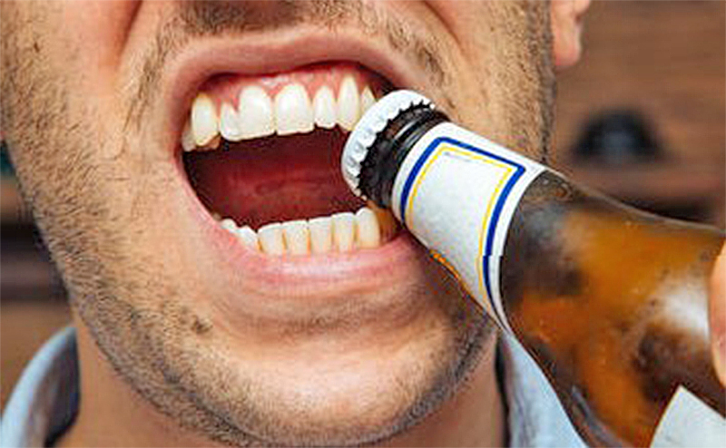 Desist from opening bottle lids with teeth – Dentist