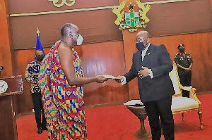 President Akufo-Addo receives report on petition to remove the Chief Justice