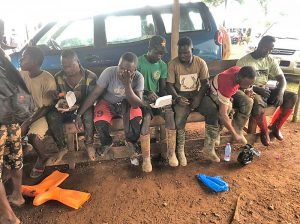 Team arrest illegal miners in Juaboso District
