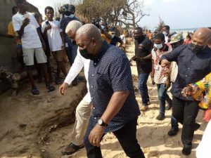 Mahama makes first public outing, stresses party re-organisation