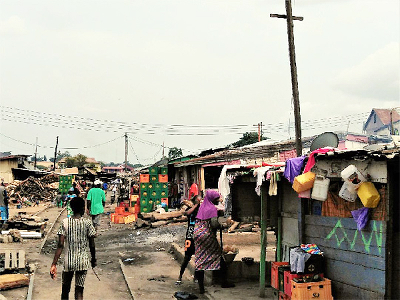 A/R: Squatters invade Community Market under construction at Asokwa in Ashanti