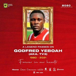 Asante Kotoko legend Godfred Yeboah passes on