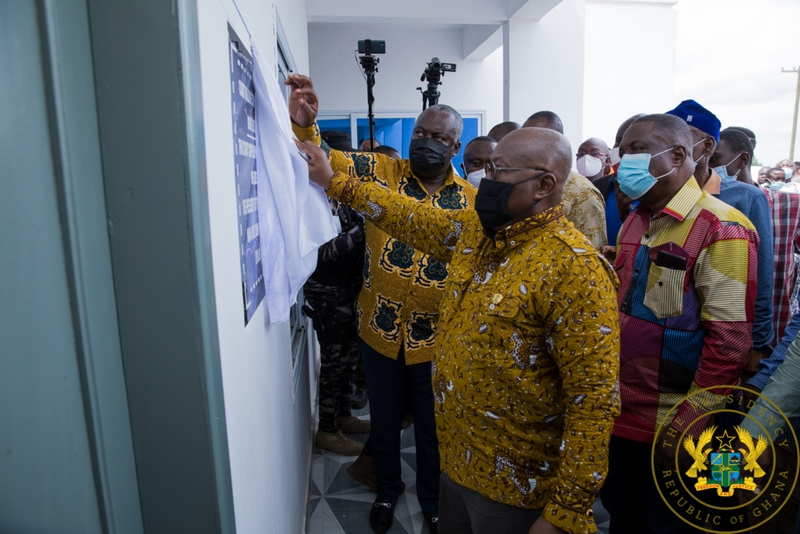 President commissions dual court complex at Kintampo