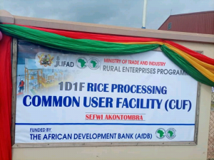 Read more about the article Rice factory commissioned under 1D1F…..Prez. Akufu Addo