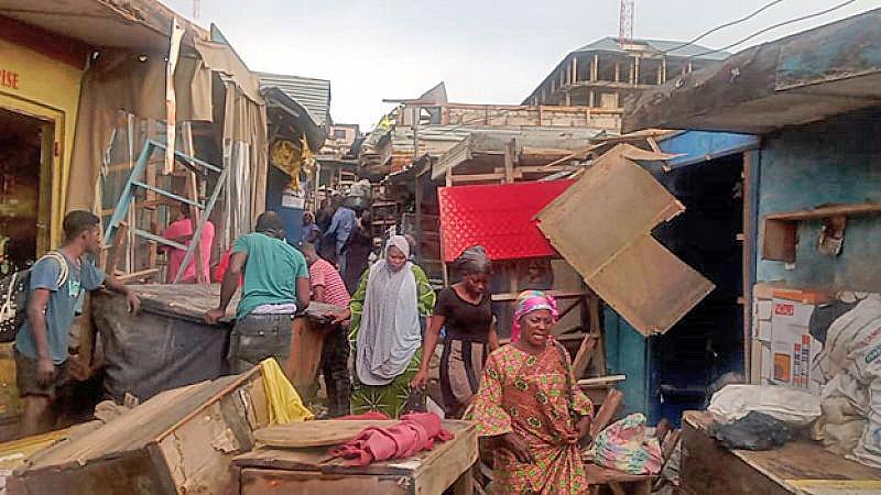 A/R: Demolition works underway in Kumasi central market