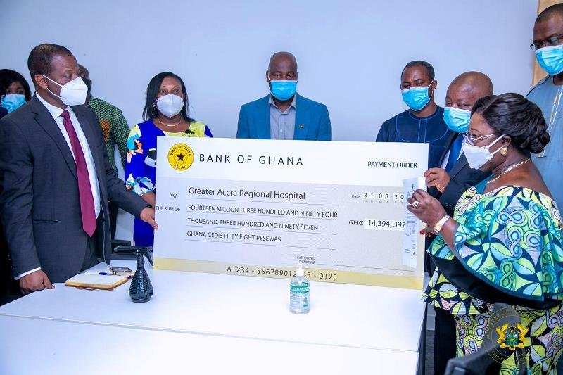 Government presents GH¢14 million for treatment of conjoined twins