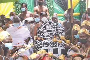Pomp & Pageantry as Nana Otuo Siriboe marks 50 years on stool