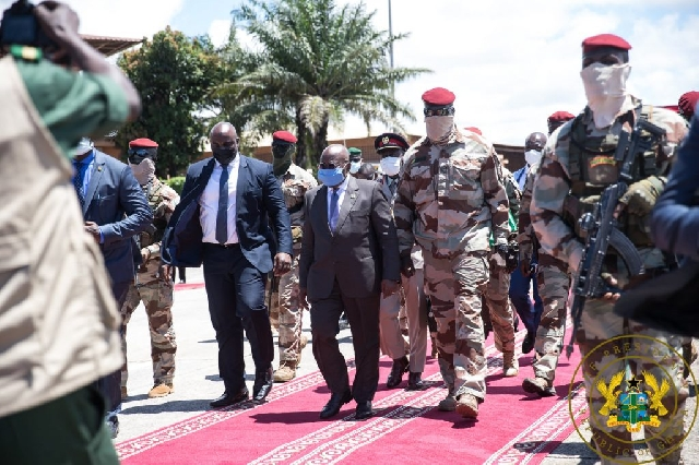 You are currently viewing Prez, Akufo-Addo meets Guinea coup leaders