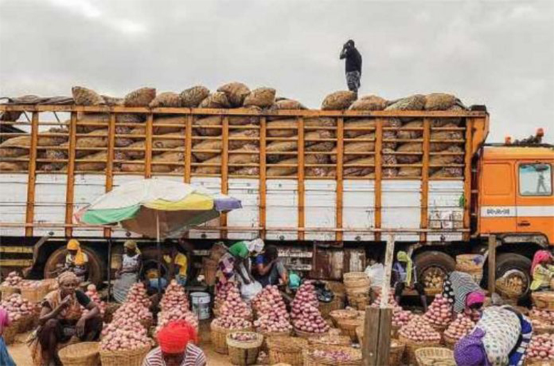 Two months after eviction, some Onion sellers are yet to fully re-locate to Adjen Kotoku