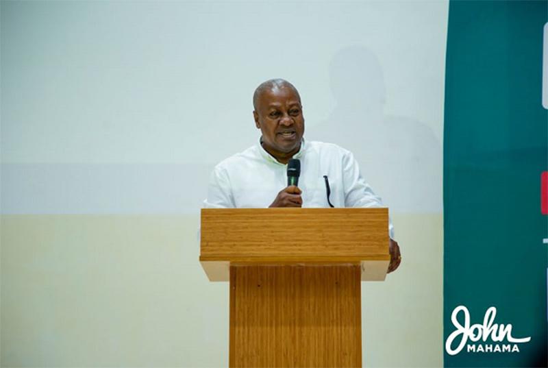 Seek equitable ways of managing economy- Former President Mahama to Gov't