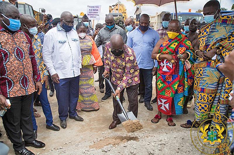Sod cutting on Kumasi – Obuasi rail line …. A year on