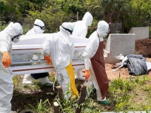 Mass burial for Covid-19 corpses at Holy Family Hospital, Nkawkaw