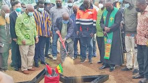 President cuts sod for phase-two of UHAS Campus project