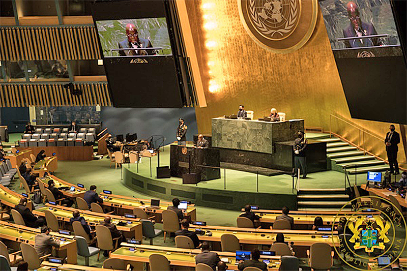 You are currently viewing Speech By President Akufo-Addo At The 76th Session Of The United Nations' General Assembly