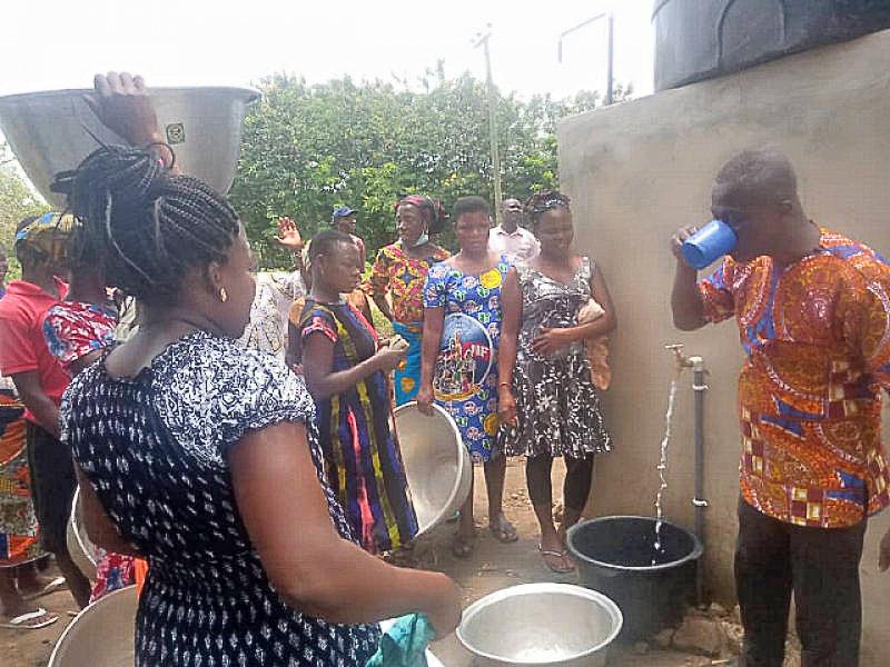 Adetsewui, Kpodzivi communities gets mechanised borehole water facility