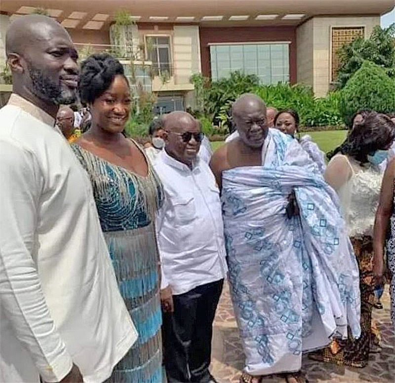 You are currently viewing Kofi Jumah's son marries Akufo-Addo's daughter
