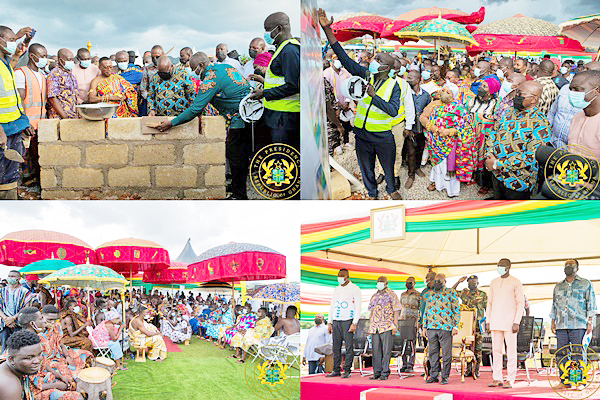 You are currently viewing President Akufo-Addo Cuts Sod For 100-bed Obuasi Trauma & Accident Hospital