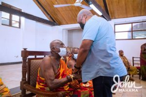 Read more about the article Mahama in Central Region, still pushing for electoral reforms