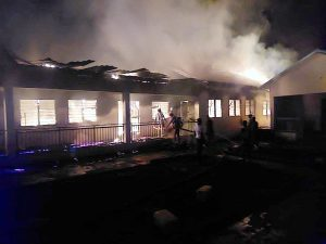 Read more about the article Fire guts Nyinahin Catholic SHS boys' dormitory