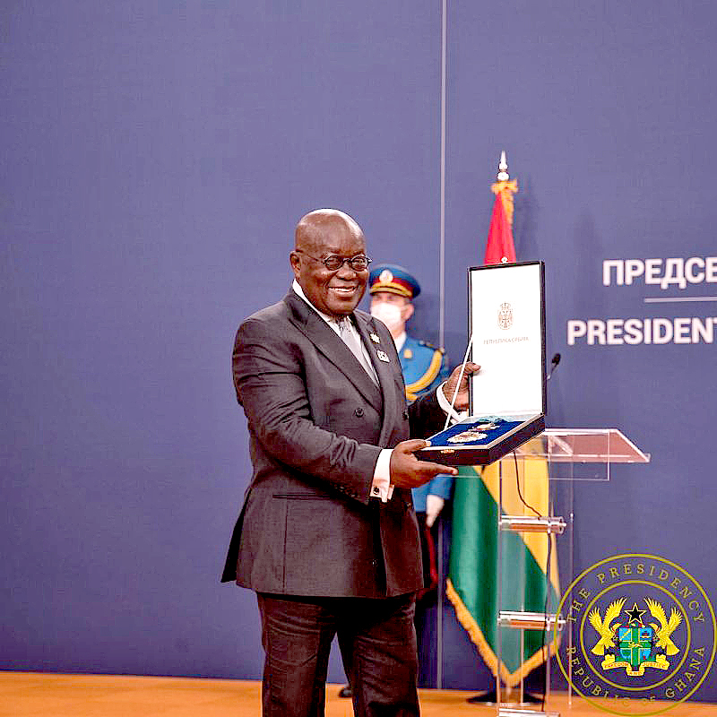 You are currently viewing President Akufo-Addo receives Serbian highest national award